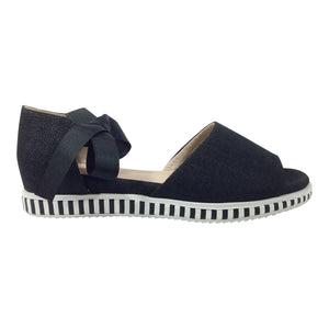 Chrissie - Cameo - Black Canvas - Sole Sister Shoes