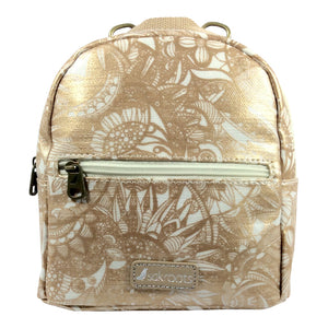 Sakroots - Mini Convertible Backpack/Crossbody - Rose Gold Spirit Desert