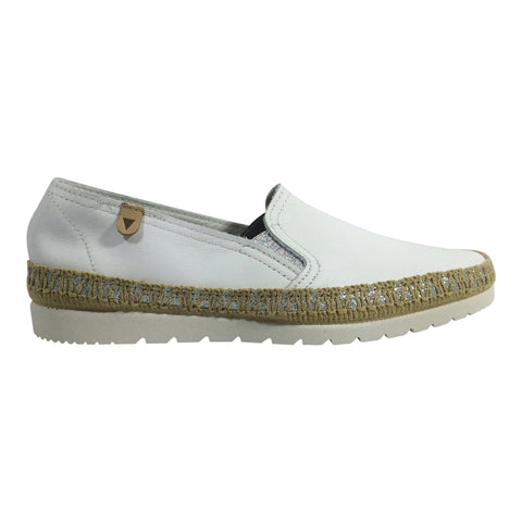 Verbenas by Neo Spain - Nerja - White Leather Espadrille