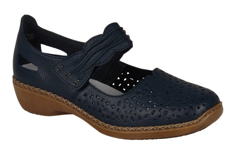 Rieker - 41399 - Navy Mary Jane Shoes