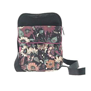 Sakroots In Bloom Graphite Cross Body Travel Bag