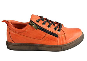 Cabello Soft Laceup Shoes - Orange - Sole Sister Shoes