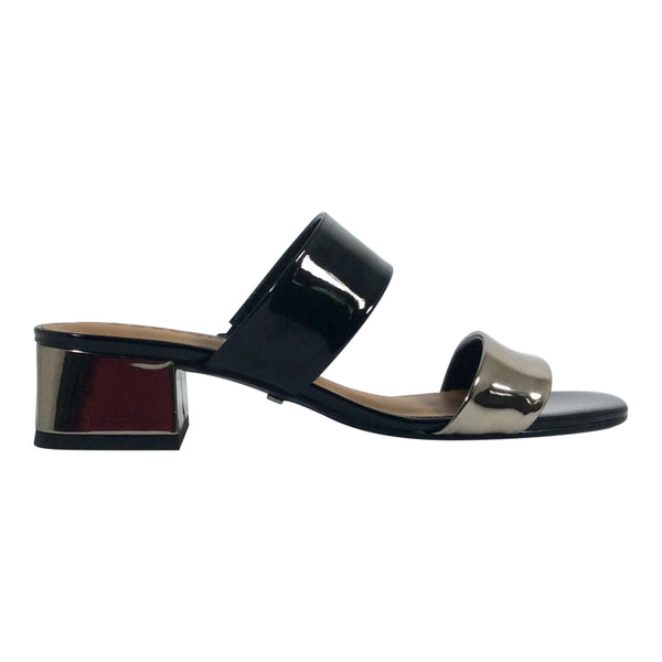 Cecconello - Patent Leather Slide - Ester - Black/Metallic - Sole Sister Shoes