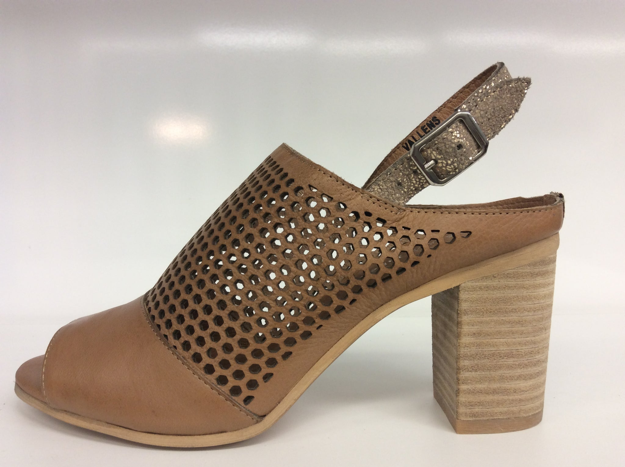 Django & Juliette - Vallens - Dark Tan-Peach Crackle Leather - Sole Sister Shoes