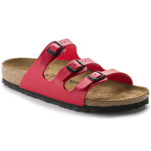Birkenstock - Florida - Cherry - Black Birko-Flor - Sole Sister Shoes