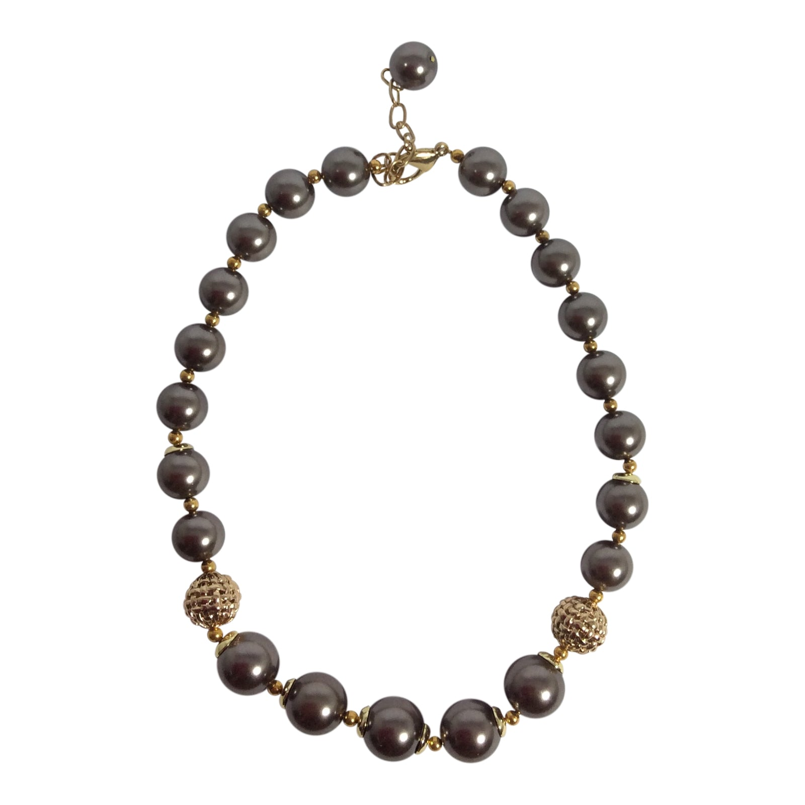Sally - Smokey Pearl Necklace