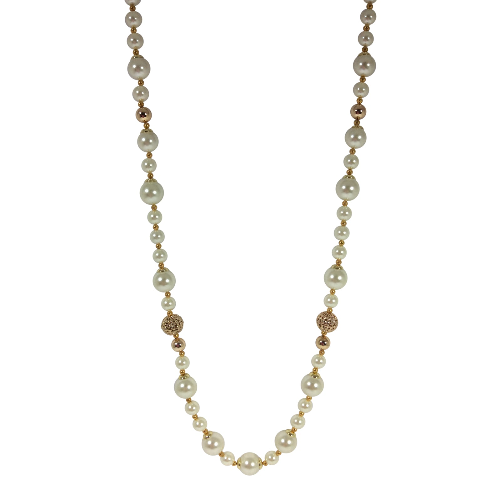 Emma - Long Pearl Necklace - Sole Sister Shoes