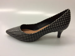 Cecconnello - Daryl - Black Leather Pump - Polkadots - Sole Sister Shoes