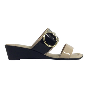 Piccadilly - Stella - 563003 Blush/Black Patent Wedge