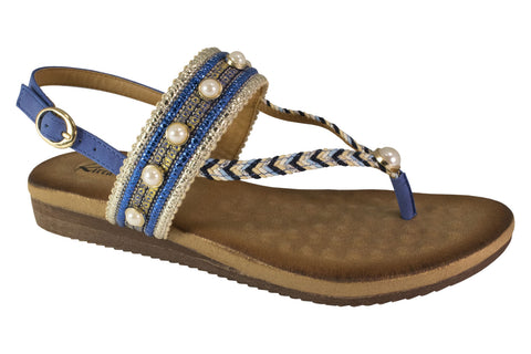 Kirra Beach Sandals - Tilly - Blue - Sole Sister Shoes