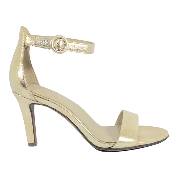 Naturalizer - Kinsley - Metallic Gold Leather Ankle Strap Shoe