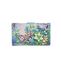 Modapelle - Blue Lagoon - Hand Painted Leather Wallet - Sole Sister Shoes