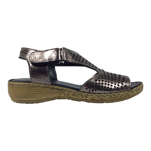 Cabello Comfort Shoes - Pewter - Sandal - Sole Sister Shoes