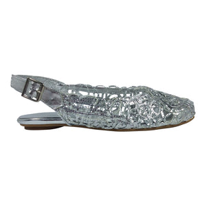 Gamins - Elzy - Silver Flat - Sole Sister Shoes