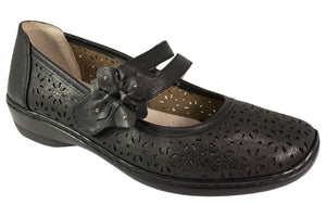 Comfort Leisure - Mary Jane - Alice - Black - Sole Sister Shoes