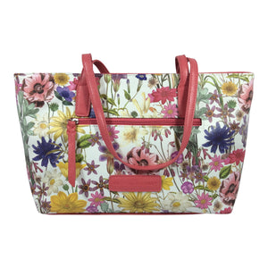 Cosgrove and Beasley - Shoulder Bag - Coral Floral- Botanical - Sole Sister Shoes