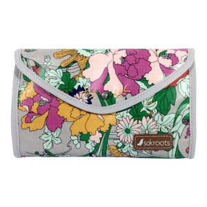 Sakroots Artist Circle Flap Cosmetic Bag - Lilac Flower