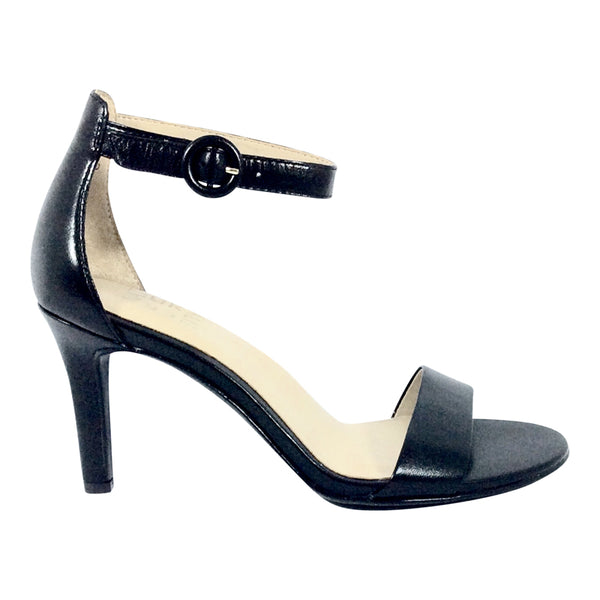 Naturalizer - Kinsley - Black Leather Ankle Strap Shoe