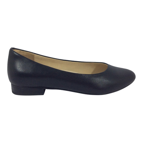 Ziera Shoes - Ovation - Black Leather Flats