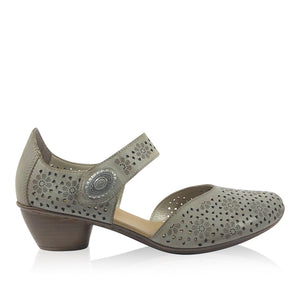 Rieker Shoes - 43711-00 Beige Leather