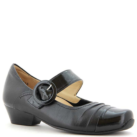Ziera Shoes - Claudia- Black Leather and Patent - Free Shipping + Afterpay
