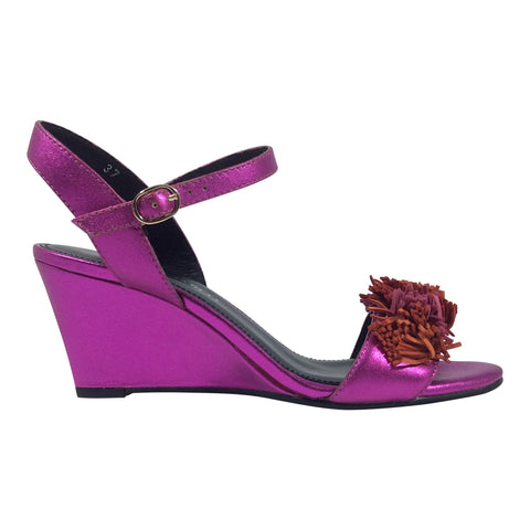Martini Marco - Messa - Fuchsia Leather Wedge - Sole Sister Shoes