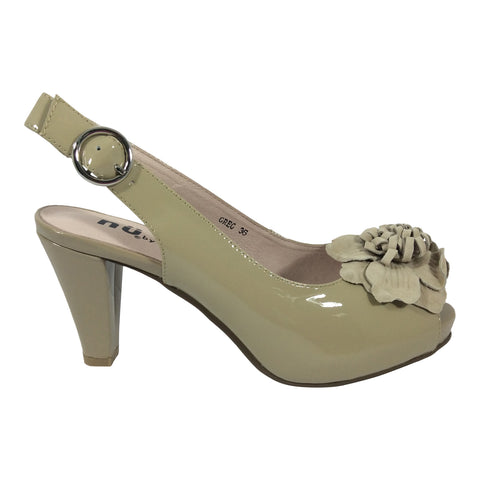 Nu by Neo - Greg - Nude Patent Leather Shoe