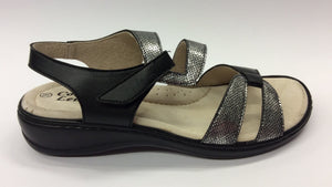 Comfort Leisure - Bella - Black Sandals - Sole Sister Shoes