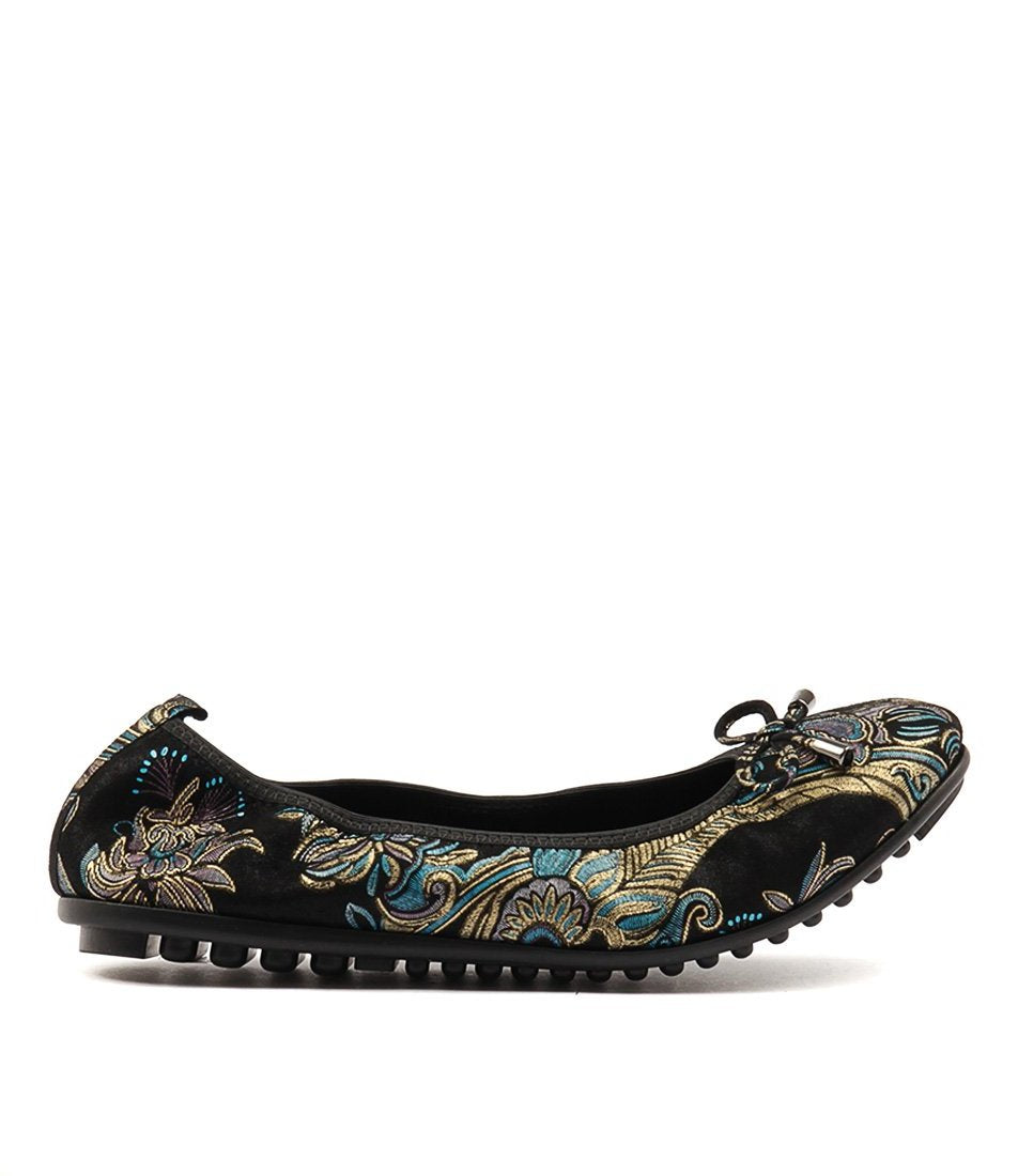 Belling - Django and Juliette - Black Paisley Leather - Sole Sister Shoes