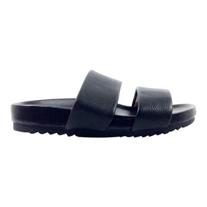 Naturalizer - Amabella - Leather Slides in Black