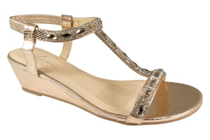 Kirra Beach Sandals - Gaura - Champagne Bling - Sole Sister Shoes