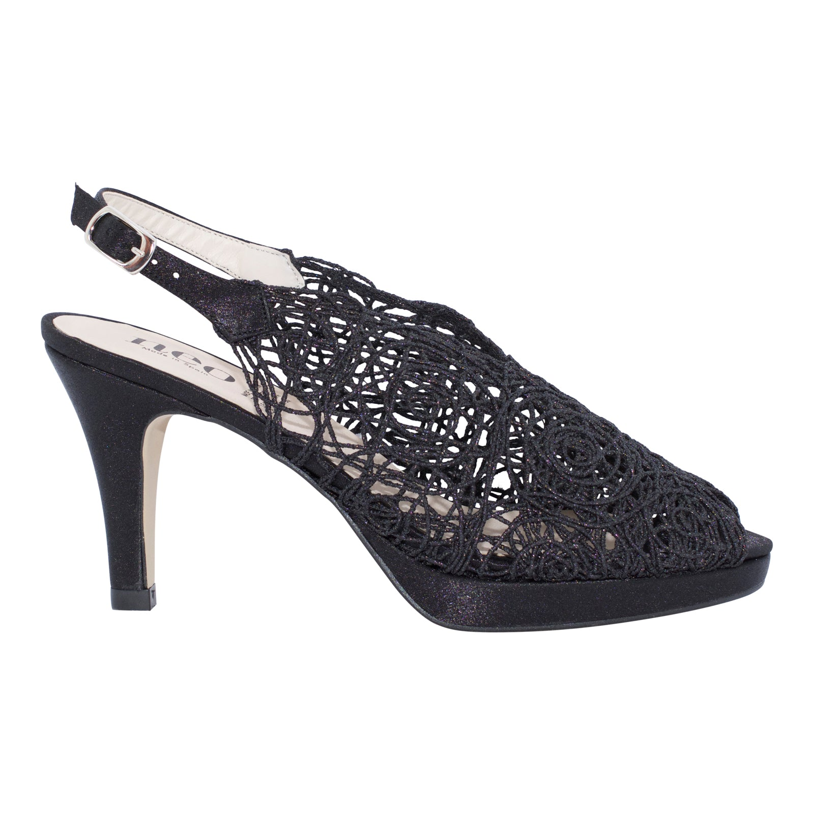 Neo Spain - Jane - Black Hand Woven Heels