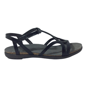 Naot Sandals Tamara - Black with Silver Rivets - Sole Sister Shoes