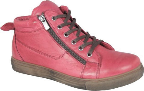 Cabello - Soft Lace Up Boot - Red - Sole Sister Shoes