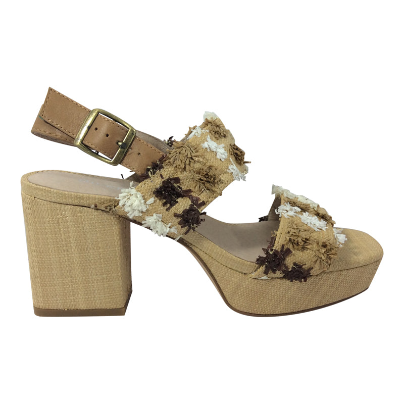 Silent D - Kase - Natural Multi Tan with Raffia