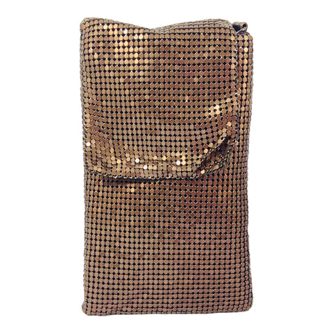 Mesh Cross Body Phone Pouch - Spark - Copper - Sole Sister Shoes