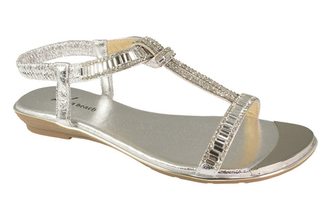 Kirra Beach - Gardenia - Silver - Sole Sister Shoes