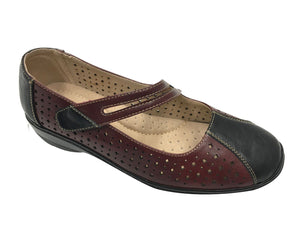 Comfort Leisure - Georgia - Burgundy Black - Sole Sister Shoes