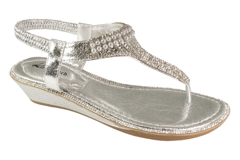 Kirra Beach Sandals - Gerbera - Silver Bling - Sole Sister Shoes