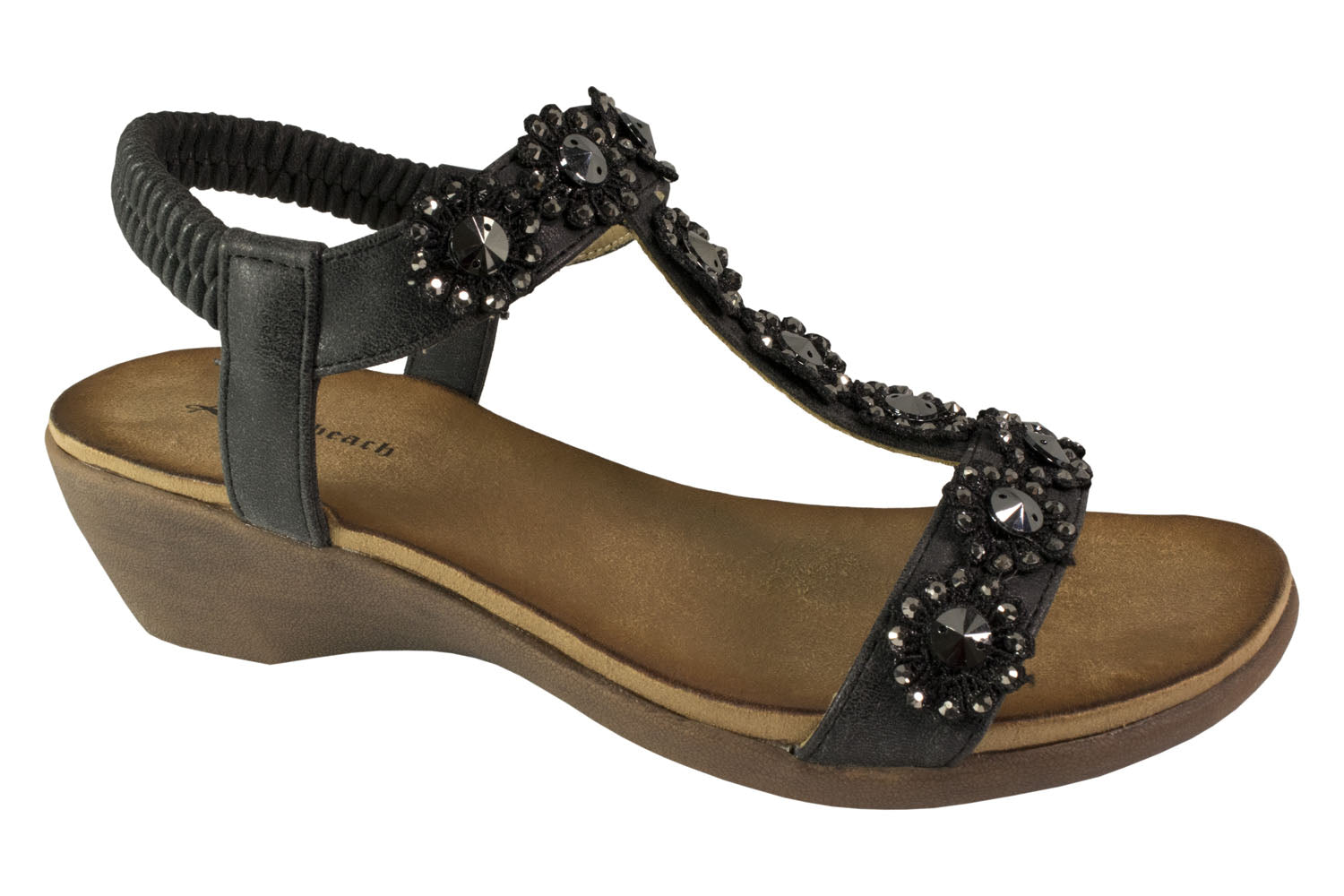 Kirra Beach - Wedge - Hilary - Black - Sole Sister Shoes