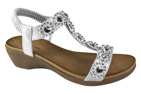 Kirra Beach - Wedge - Hilary - Silver - Sole Sister Shoes