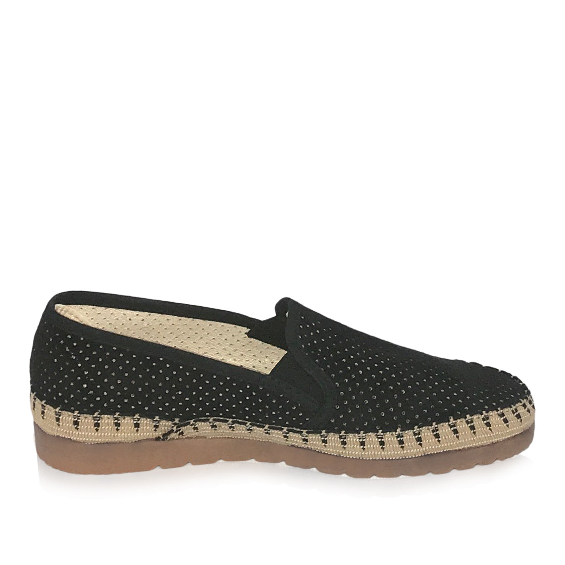 Verbenas by Neo Spain - Black Suede Espadrille
