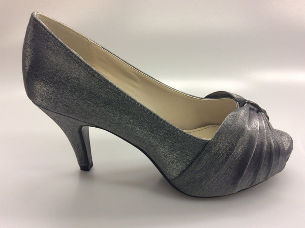 Clarice - Violet- Grey Satin Heels - Sole Sister Shoes