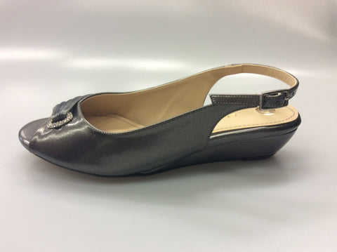 Clarice - Hope Evening Wedge - Pewter - Sole Sister Shoes