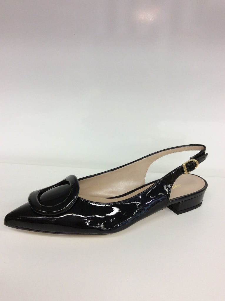 Amber Rossi - Vernice Nera - Italian Black Patent Leather - Free Shipping - Sole Sister Shoes