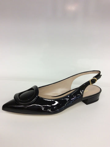 Amber Rossi - Vernice Nera - Italian Black Patent Leather - Free Shipping