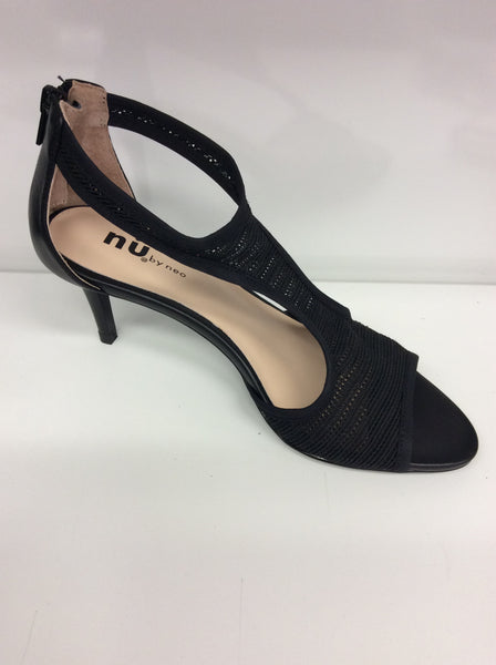 Nu By Neo - Mesh - T-Bar - Black Heels