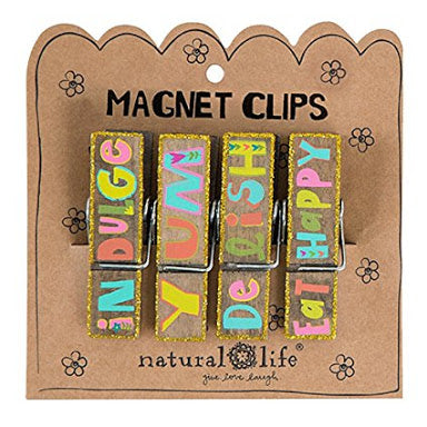 Natural Life - Eat Happy Magnetic Clips