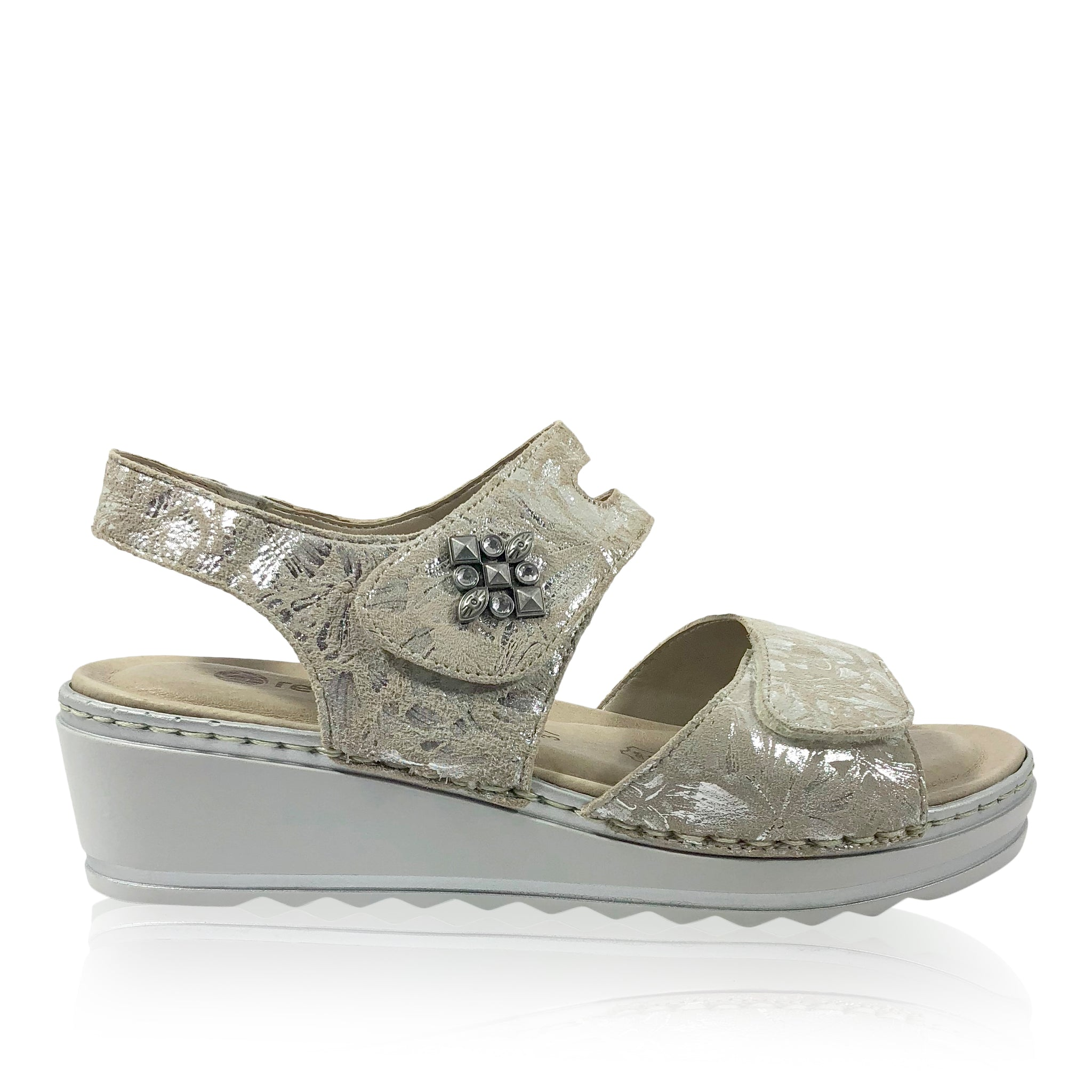 Remonte by Rieker R6055-40 - Grey Combination Sandal