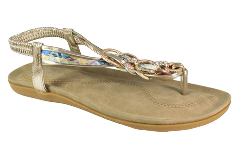 Kirra Beach Sandals-Iris -Gold Multi Sandal - Sole Sister Shoes